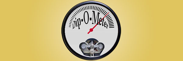 My revised Dip-O-Meter as of April 1–to me it looks like this buy on the dip moment is over (but wait for next time)
