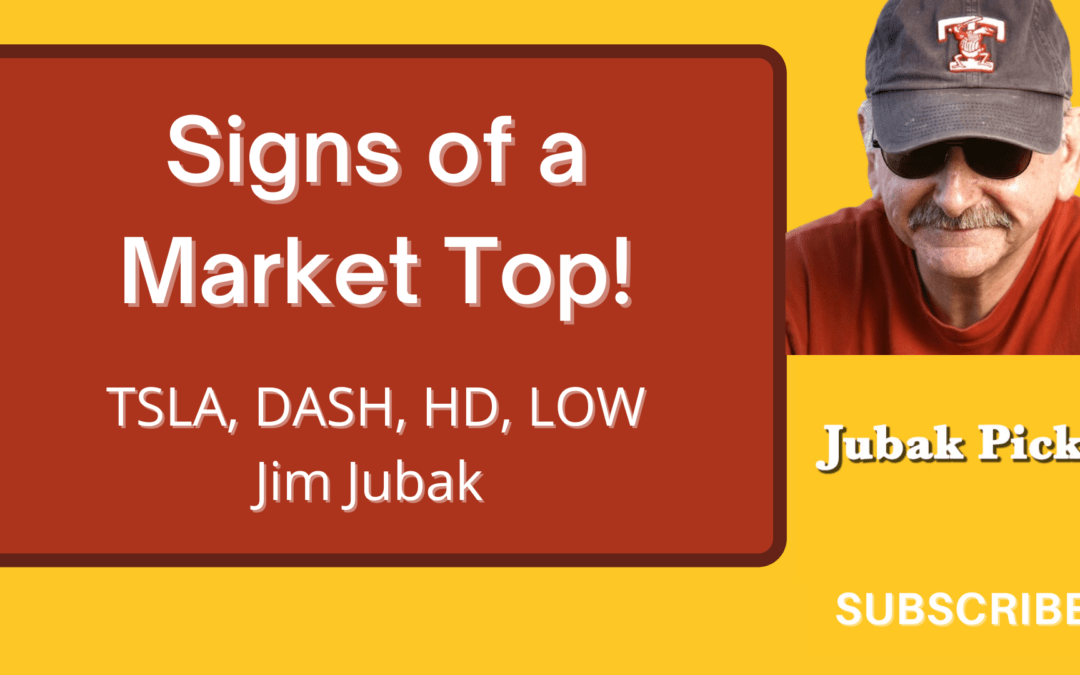 Watch my YouTube video on Signs of a Market Top NOW! Please