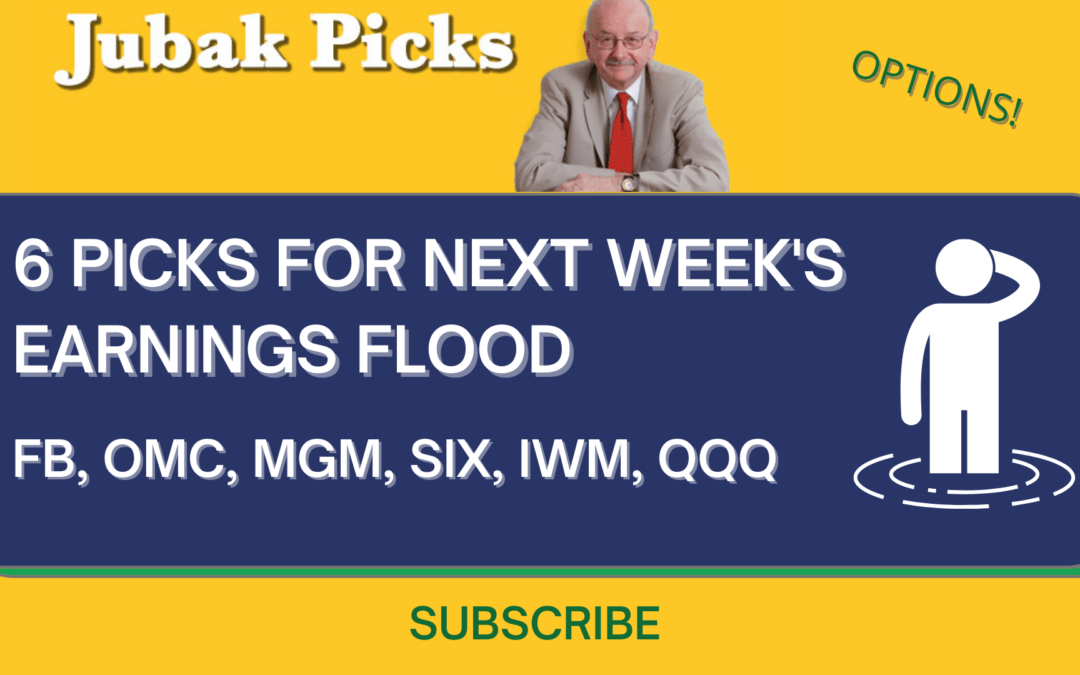 "Watch my new YouTube video ""6 picks for next week's earnings flood"""