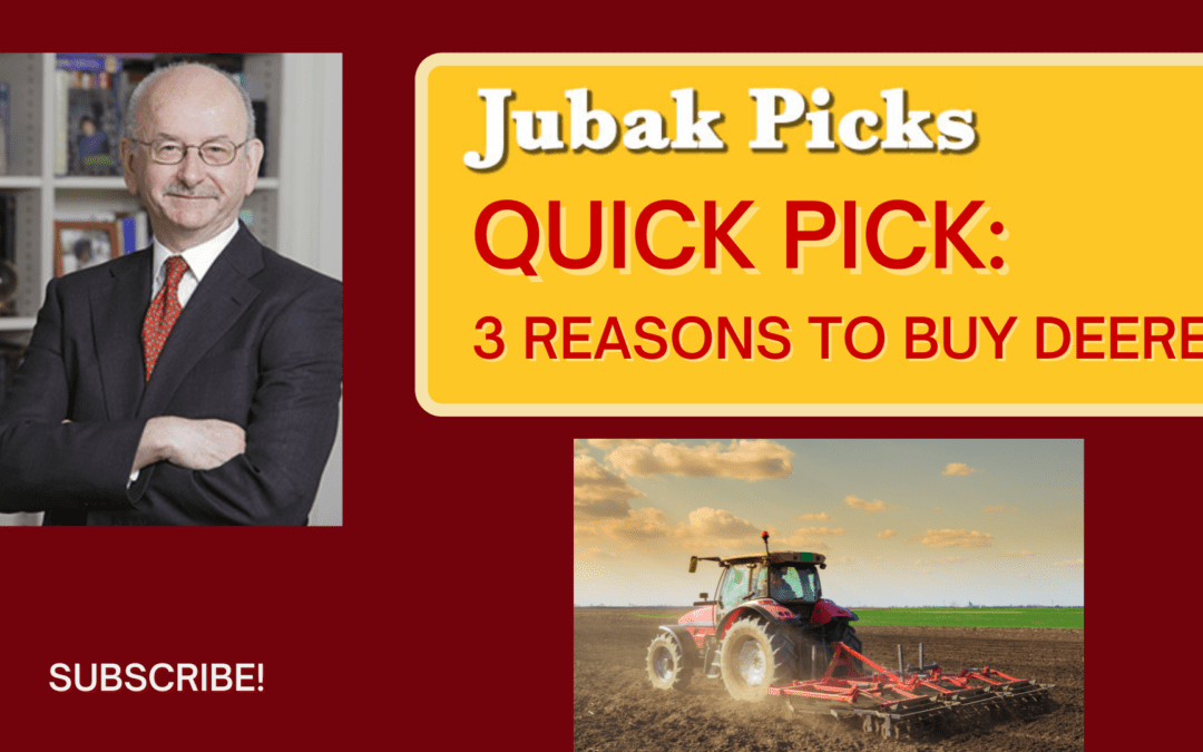 "Watch my new YouTube video: ""QuickPick: 3 reasons to buy Deere"